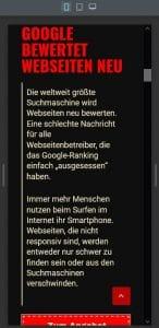 Responsiv für Google